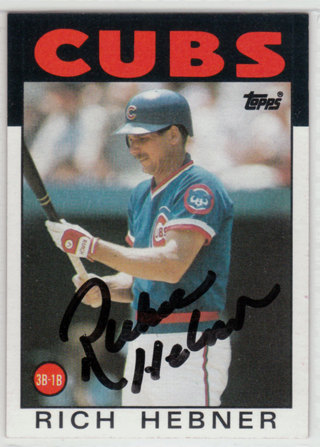 1986 Topps Richie Hebner autograph card