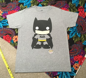 MEN'S BATMAN T SHIRT FUNKO POP! DC COMICS TEE FREE SHIPPING