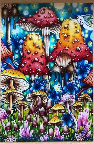 "Mushroom City - 3 x 5"" MAGNET"