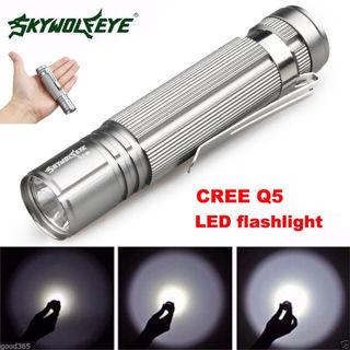 7W Q5 LED 1200LM Mini Flashlight Torch Light 14500/AA Lamp Waterproof Nice