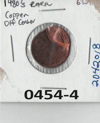 Lincoln Penny Error Off Center Copper coin US seller     6
