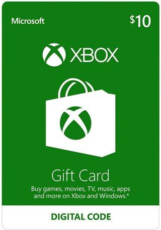 1 Xbox $10 Gift Card - Digital Code Microsoft