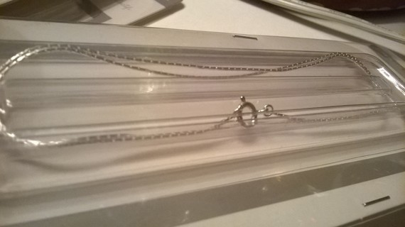 """5 Genuine Sterling Silver 18"""" Chains NEW"""