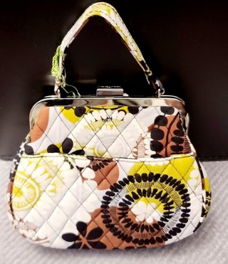 VERA BRADLEY MINI FRAME CROSSBODY**COCOA MOSS**NEW WITH TAGS