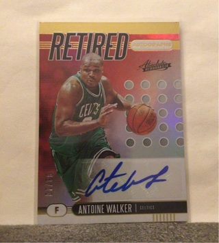 ANTOINE WALKER RETIRED AUTOGRAPH 3/10