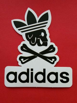 Free: ☆ADIDAS SKULL & CROSSBONES HEADDRESS☆ Sticker Decal