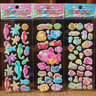 3pcs/lot 3D Cartoon Sticker Bubble Stickers Children Kids Scrapbook Sticker