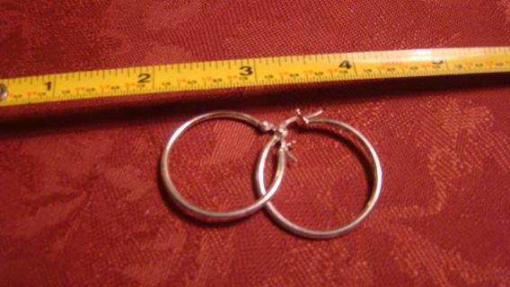 sterling silver stamped hoop earrings