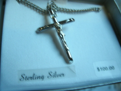 Chunky Sterling Silver Cross Pendant retails $100