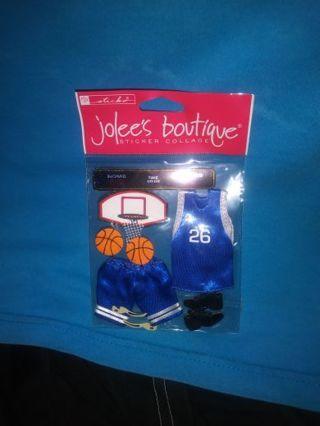 Basketball Scrapbook Stickers