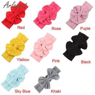 New 2019 Hair Accessories baby girl headband bow Big Bowknot Baby Girls Cotton Headband Children K