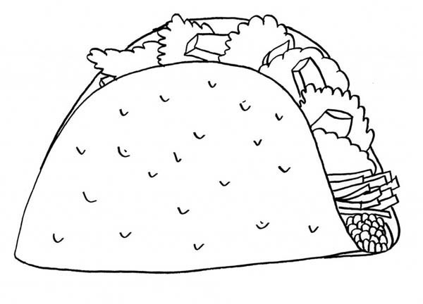 printable mexican food coloring pages - photo#23