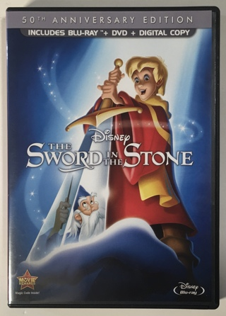 Disney The Sword in the Stone 50th Anniversary Edition Blu-ray + DVD 2-Disc Combo Movie - Mint Discs