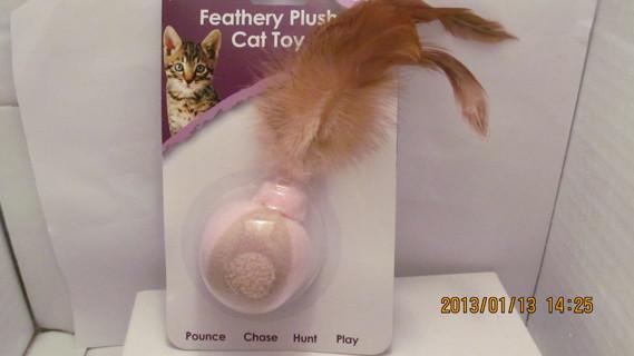 Pet Paw Feathery Plush Cat Toy With Cat Nip