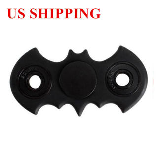 USA Black Batman Style Figit Bat Fidget Hand Spinner EDC Stocking Stuffer Toy
