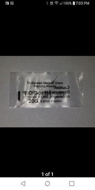 20G Body Piercing Needle