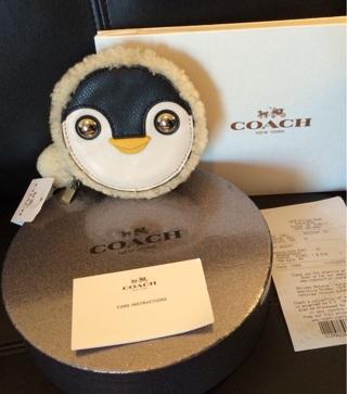 Free Adorable Omg Bnwt Coach Penguin Coin Purse Black