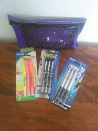 BRAND NEW SCHOOL OR OFFICE SUPPLIES :-) CAN MAKE A GREAT STOCKING STUFFERS :-)