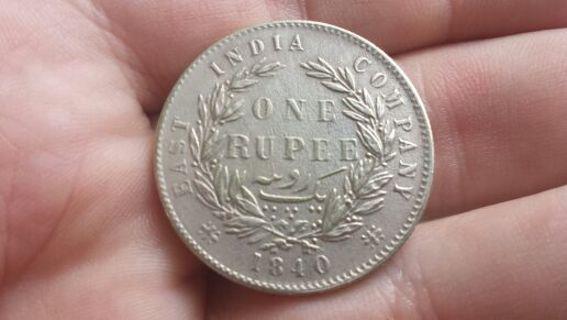 (2) Victorian British India rupees (1840 & 1879)
