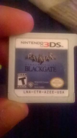 Nintendo 3DS game batman arkham origins black gate