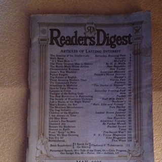 May,1935 Readers Digest