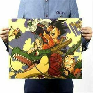 Vintage Cartoon Dragon Ball Scale Map Paper Posters Club Decor 51*35CM