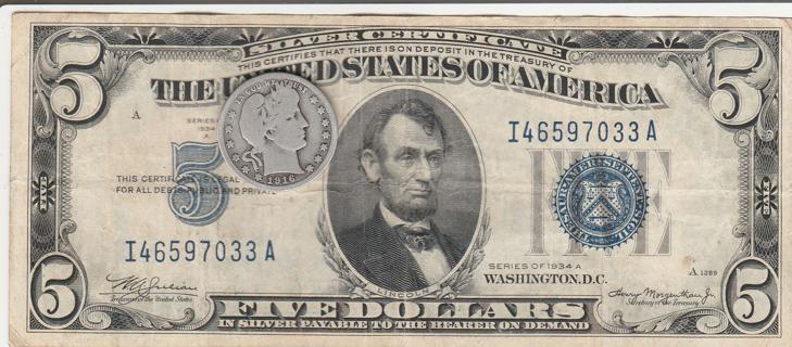 $Silver Quarter Silver Certificate$$
