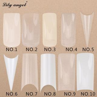 500Pcs/set Transparent White False Nail Art Design Tips French Acrylic Polish UV Gel Sticker Salon