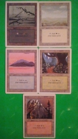 mtg ccg land cards mixed    free shipping