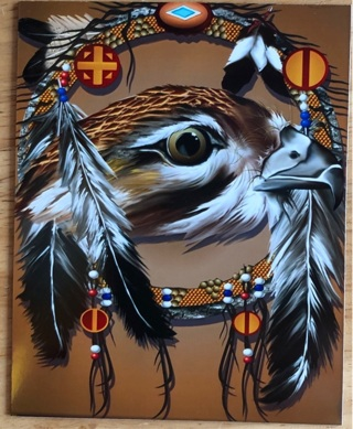 "HAWK FEATHERS - 4 x 3"" MAGNET"