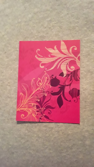 Notecards - Pink Scroll