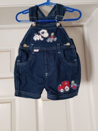 Baby boys shorts overalls