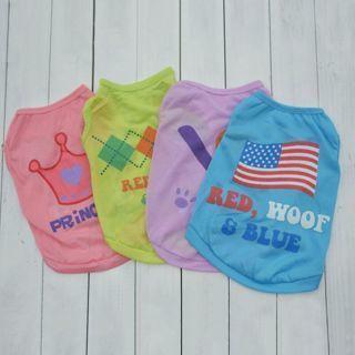 Cute Pet Vest Small Dog Cats Puppy Sleeveless Coat T-shirt Tops Clothes XS/S/M/L