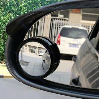 [GIN FOR FREE SHIPPING] 2PCs Driver Wide Angle Round Convex Mirror Blind Spot Auto RearView
