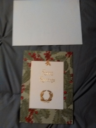 Christmas Card with Envelope! -- NEW!