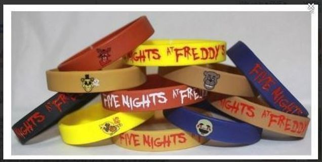 1 Five Nights at Freddy's Wrist Band Video Game JEWELRY GIN