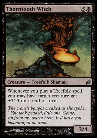 Magic the Gathering MTG - Thorntooth Witch (Lorwyn ) UNCOMMON