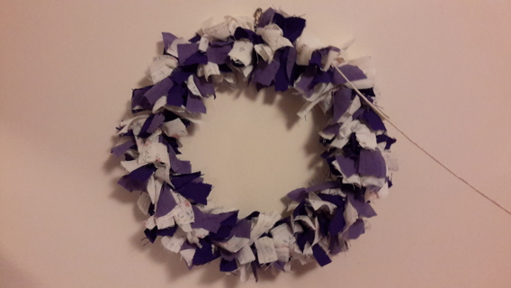 """HANDMADE WREATHS #11 AND #12  """"TRACES OF PURPLE"""""""