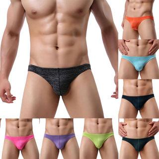 Sexy Mens Underwear Cotton Shorts Male Thong Bikini Trunks Kinckers Underpants