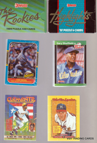 2 Donruss Sets, 1989 ROOKIES 56 Cards & Puzzle & 1987 HIGHLIGHTS 56 Cards & Puzzle STILL SEALED