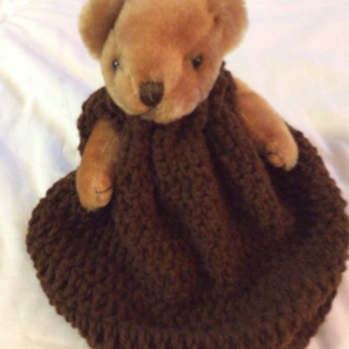 "Hand Crochet Children's Bear Toy and Dress . ""Chrisha Playful Plush""."