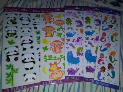 Sticko kawai animal 6 cute sticker packs Lowest gins always! No refunds! Selling out! Done