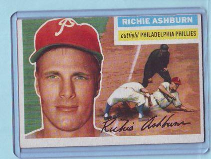 1956 Topps Richie Ashburn Baseball Card # 120 Phillies