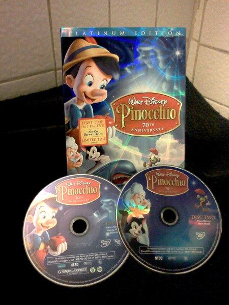 Free: Walt Disney Pinocchio 70th Anniversary - Platinum ...  Pinocchio 70th Anniversary Edition Dvd