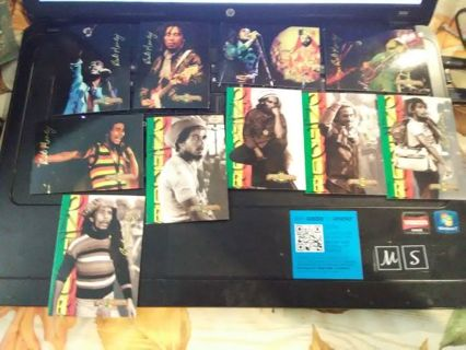 READ DETAILS!! Bob Marley Gold Signature Trading Cards
