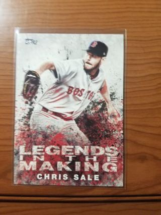 2018 Topps legends in the making. Chris Sale