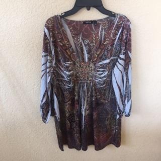 Apt 9 blouse size large like new ship $3.00
