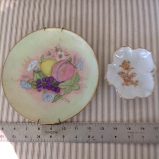 2 Vintage Plates, France and Germany.