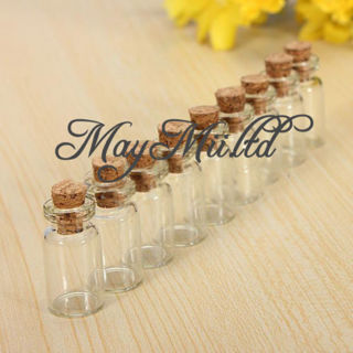 Mini 10Pcs Empty Small Tiny Clear Cork Message Glass Bottles Vials CA