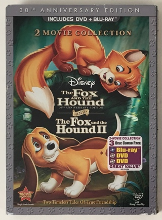 Disney The Fox and The Hound I and II 2 Movie Collection 30th Anniversary Edition 3-Disc Blu-ray/DVD